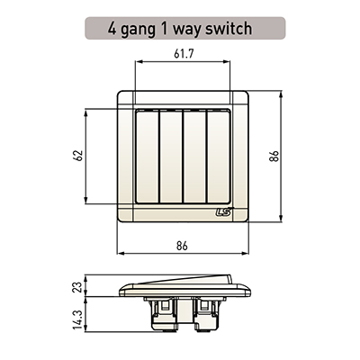 4 Gang 1 Way Switch – Sun Power Wiring Way Switch on 1 way light, 3 wire switch wiring, to one switch two lights wiring, 1 way bulb, lever switch wiring,